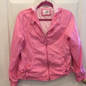 Girls lined windbreaker jacket